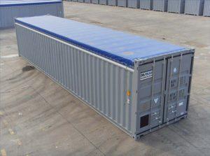 40feet Open Top/Roof Container (kontainer/kontener atap terbuka).