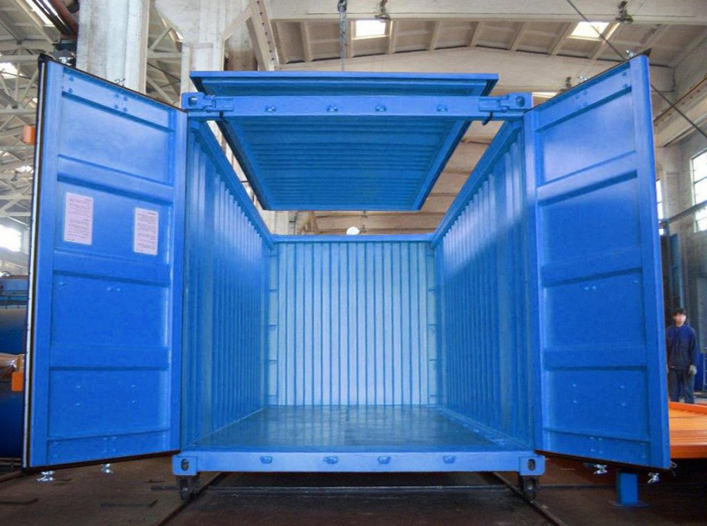 20ft (feet/kaki) Open Top Container (kontainer/kontener atap terbuka).