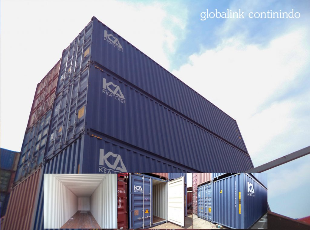 40ft (feet/kaki) Container (kontainer/kontener) kosong.
