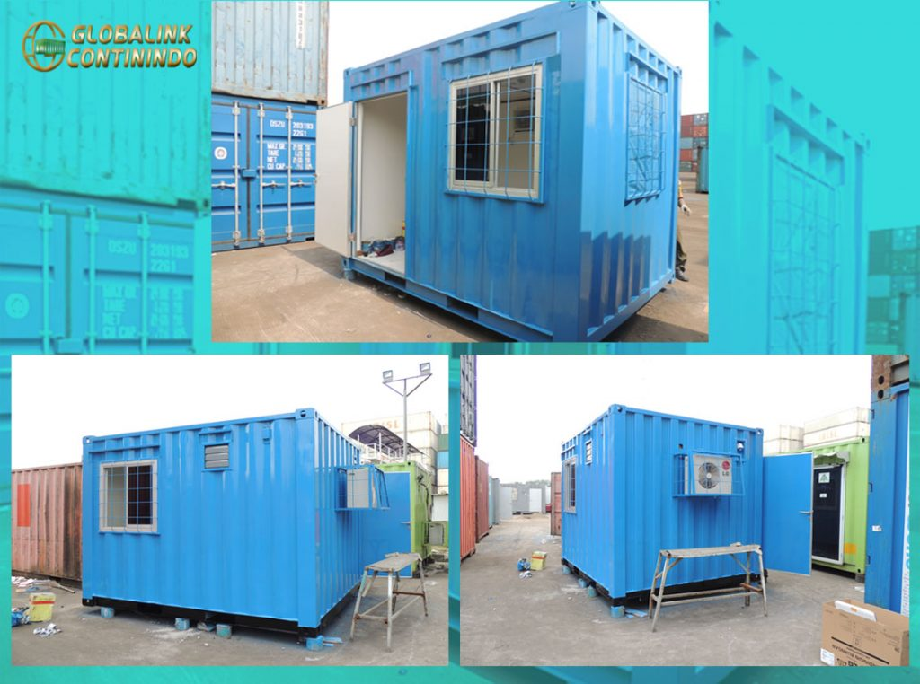 Office Container (kontainer/kontener). Tinggi 10ft (feet/kaki).