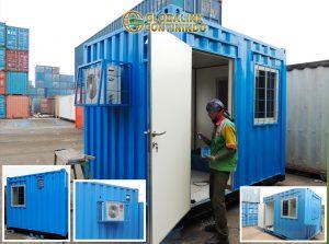 Dijual Security Container (kontainer/kontener satuan-pengaman/satpam). Container (kontainer/kontener) yang kami modifikasi menjadi ruang/pos petugas/satuan-pengaman (satpam).