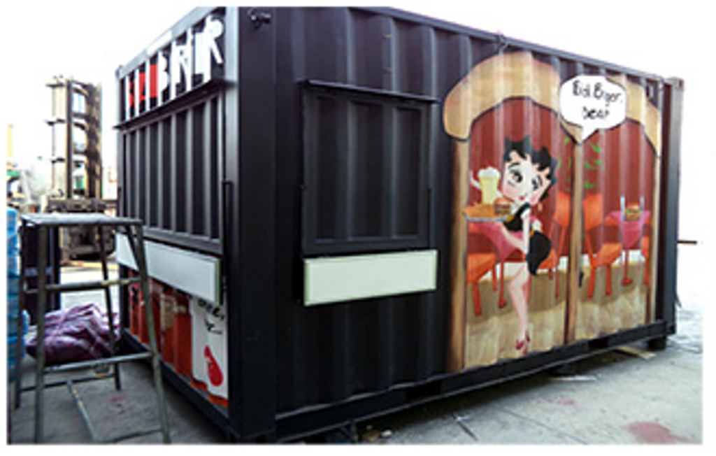 Dijual BlackBurger Cafe/Canteen Container (kontainer/kontener kafe dan kantin).