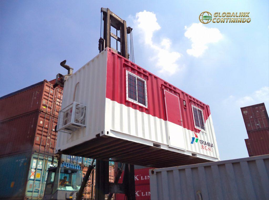 Dijual Office Container (kontainer/kontener kantor). Container yang kami modifikasi menjadi ruang-kantor.